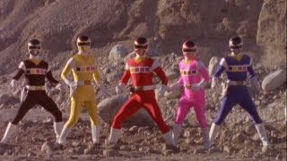 Power Rangers In Space - First Morph and Fight (Power Rangers vs Quantrons)