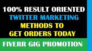 Social Media Marketing - Twitter - Exclusive Ways to Promote Your Service
