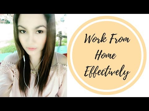 HOW TO WORK FROM HOME EFFECTIVELY TIP #1 (From Facebook Live Video) - beautywithgeline