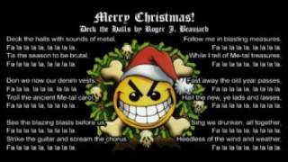 deck the halls metal style death metal christmas parody song rogerbeaujard - Death Metal Christmas