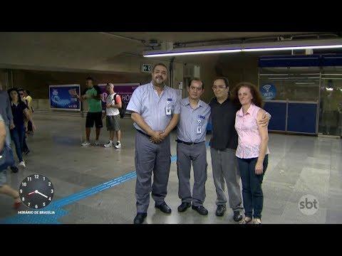 Professor é salvo por funcionários do metrô e volta para agradecer | Primeiro Impacto (20/11/17)