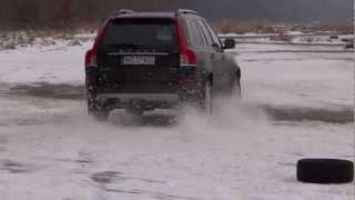 Volvo XC90 on the  snow  drifting