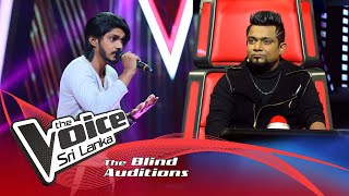 Sithum Deshan - Atheethaye Maa Blind Auditions | The Voice Sri Lanka