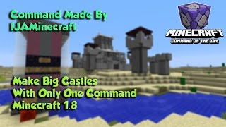 Make Big Castles Minecraft 1.8 Custom Command Of The Day