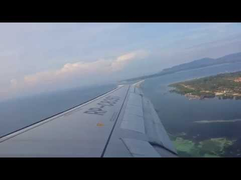 Taking off from Puerto Princesa Airport PAL A320