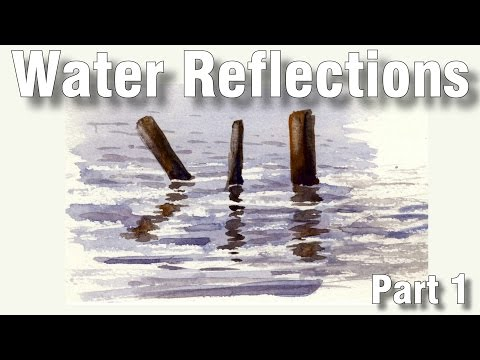 how to paint water reflections in watercolor 1