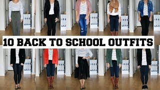 10 BACK TO SCHOOL OUTFIT IDEAS | STRIPED SHIRT