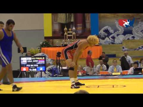 2012 Junior Worlds - FS 84kg Semifinal - Pat Downey (USA) vs. Vahe Tamrazyan (ARM)