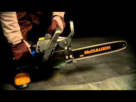 McCulloch -  Starting your chainsaw