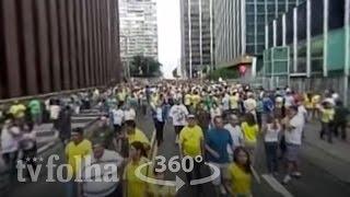 Veja vídeo 360º da manifestação na av. Paulista