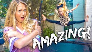Ultimate Family Trampoline Gymnastics Competition!!!