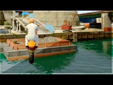 Funny Bike Stunts Over Water (GTA 5 Funny Moments) klip izle