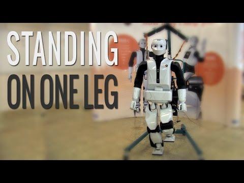 REEM C – Standing on one leg