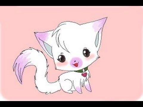 Pink Kitten Drawing How to Draw a Chibi Kitten