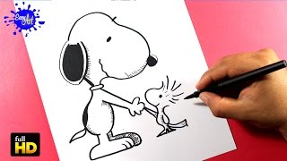 THE PEANUTS MOVIE /DIBUJOS DE SNOOPY / Como dibujar a Snoopy dog paso a paso / how to draw Snoopy