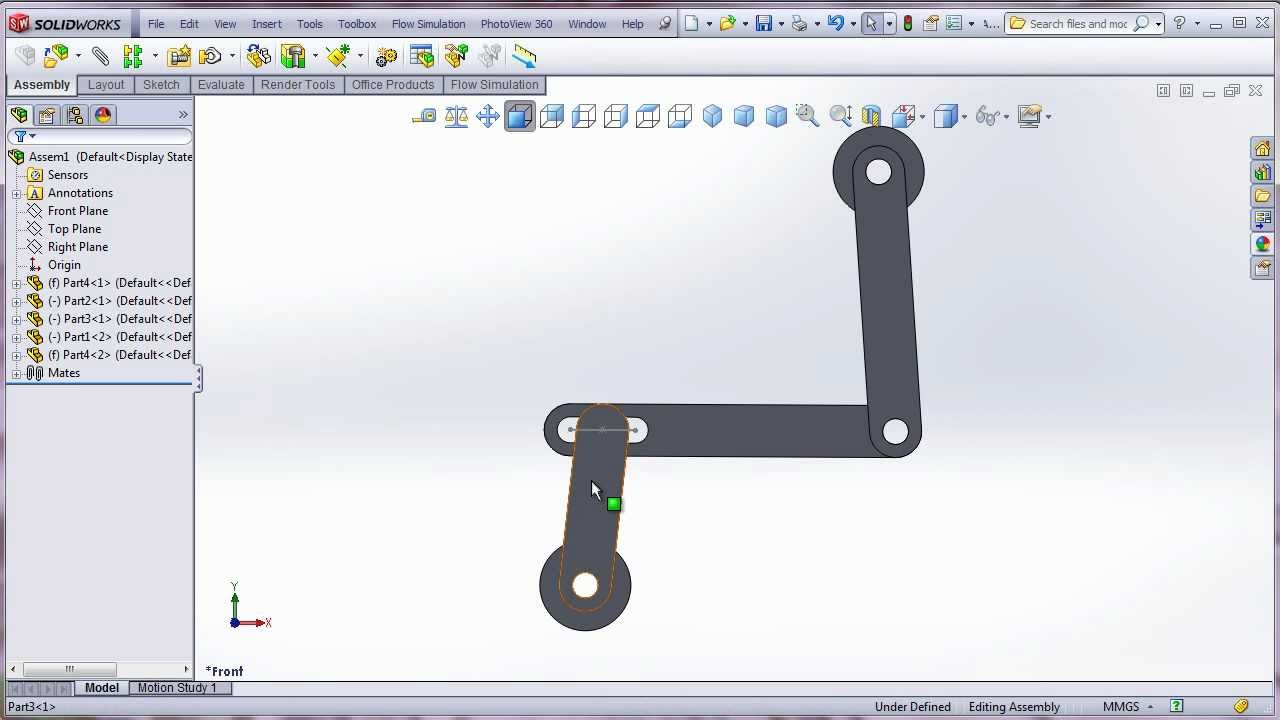 Solidworks Mate Slot Linkage Youtube