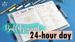 BALANCE YOUR LIFE | 24-hour day planning | TIME MANAGEMENT in bullet journal