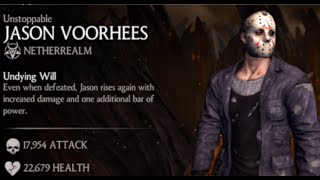 UNSTOPPABLE JASON VOORHEES MKX X-RAY FATALITY IOS 1.5 update