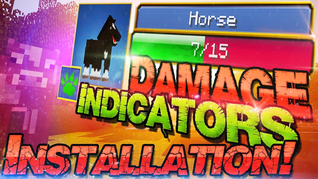 how to use hit splat damage indicator in minecraft 1.8