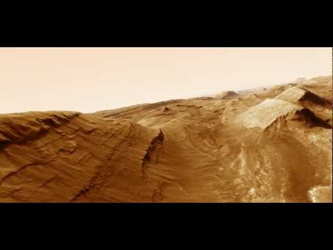 Mars Gale crater animation using HiRISE DTM