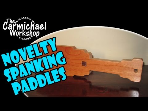 Make A Wooden Spanking Paddle - Sororities, Fraternities, Gag Gifts, Entertainment, Etc video