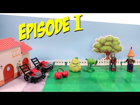 Plants vs. Zombies Toy Play Episode 1 Pea-Shooter vs the Zombie