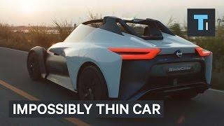 Impossibly thin car