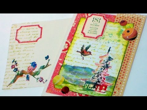 Elegant Sympathy Card with stamps and Watercolors