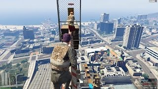 PARKOUR EXTREME HEIGHTS ON GTA V!