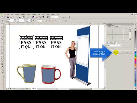 Using Envelope tool in CorelDraw