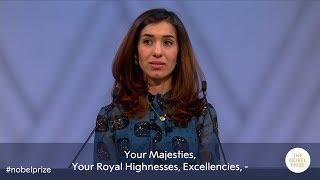 Nadia Murad: Nobel Peace Prize lecture 2018 (English subtitles)