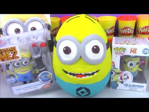 Giant Minion Surprise Egg Play Doh Despicable Me Funko video