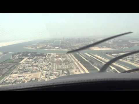 Abu Dhabi...land w me!!!  Beautiful scenic landing Abu Dhabi UAE.  See what comes out of the haze!!
