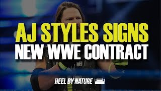 AJ Styles Signs New Contract With WWE