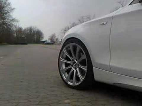 "White BMW 1 series, M package + 19"" e87"