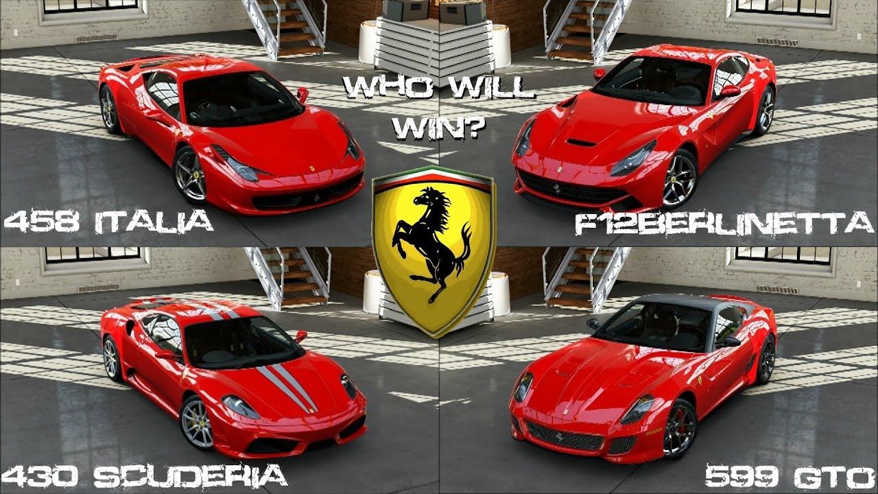 Forza 5 Ferrari 458 Italia Vs 599 Gto Vs 430 Scuderia Vs