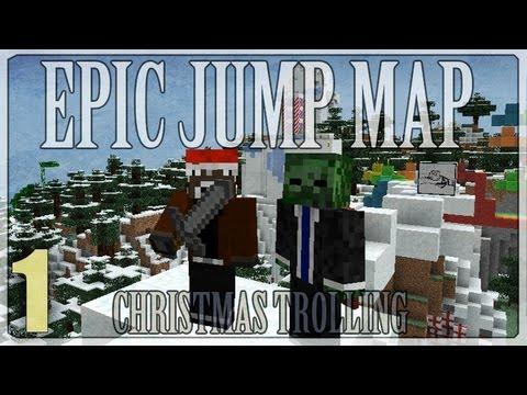Minecraft 1.4.5: ZombieTroll Nilux - Epic Jump Map Christmas Trolling #1