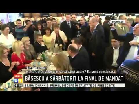 Elena Udrea i-a cantat lui Traian Basescu, la petrecerea de om liber