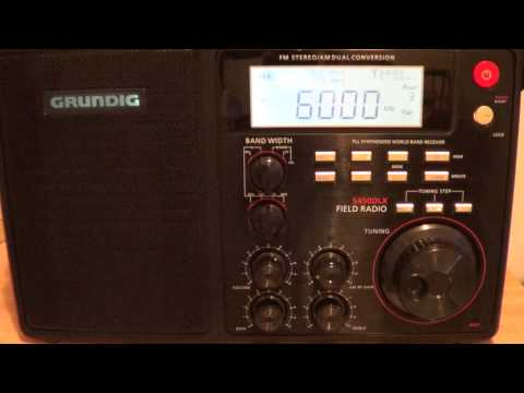 Radio Habana Cuba shortwave 6000 khz on Grundig S450DLX
