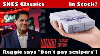 Nintendo will increase SNES Classic stock and produce them in 2018 says Reggie!