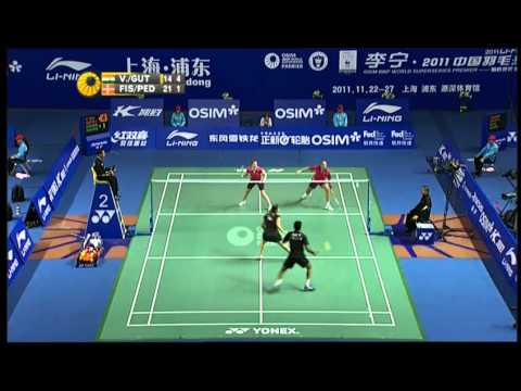 china open badminton 2011 Day 3 Jwala Gutta Ashwini Ponnappa vs Iris Wang Rena Wang China Open Badminton 20111
