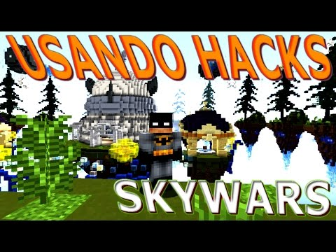 Usando Hacks Team Battle en SKYWARS MINECRAFT 1.8