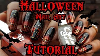 🦇Halloween Stamping Nail Art Tutorial 🦇