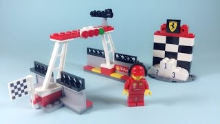 Shell Lego Finish Line and Podium Building Instructions (Set 40194)