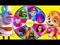 Trolls Movie Mega Wheel Game with Paw Patrol and Moana Surpri...