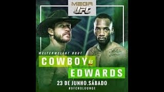 UFC FIGHT NIGHT(MAIN CARD): COWBOY CERRONE VS. LEON EDWARDS LIVE STREAM REACTION AND CHAT