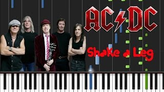 Video AC/DC - Shake A Leg Synthesia