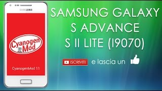 Galaxy S Advance Resuscitato: CM 11 by Epirex
