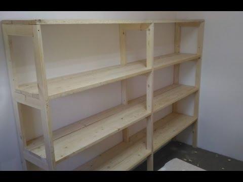 Деревянный стеллаж в гараж своими руками 1000