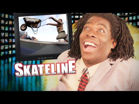 SKATELINE - Street League, Nyjah Huston, Freestyle Wheelbarrow, Mariano, Skater Hit By Car  and more
